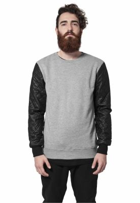 Bluza urban Quilt piele Imitation Sleeve Urban Classics