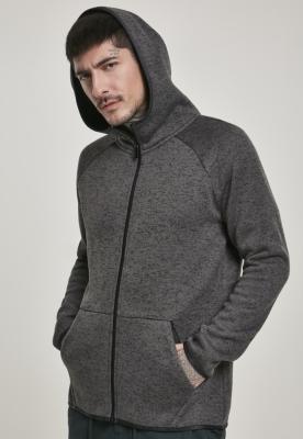 Bluze Hanorac tricot cu fermoar gri carbune Urban Classics