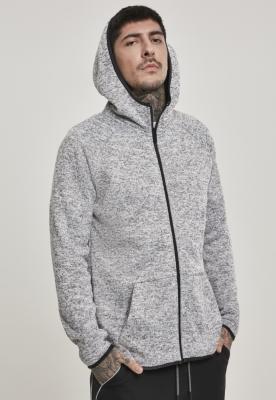 Bluze Hanorac tricot cu fermoar gri Urban Classics