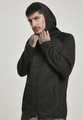 Bluze Hanorac tricot cu fermoar negru Urban Classics