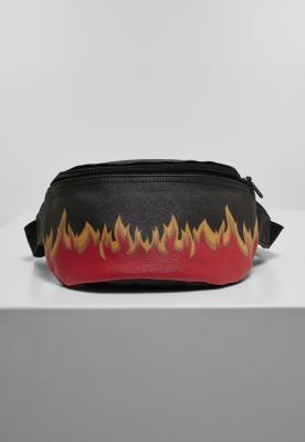Borsete Flame Print imitatie piele negru-rosu Mister Tee