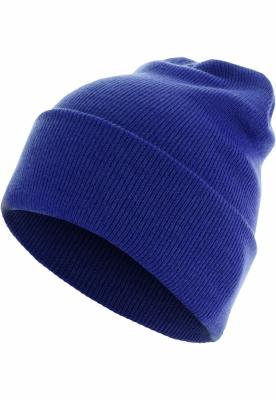 Caciula Beanie Basic Flap Long Version albastru roial Urban Classics