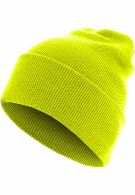 Caciula Beanie Basic Flap Long Version galben neon MasterDis