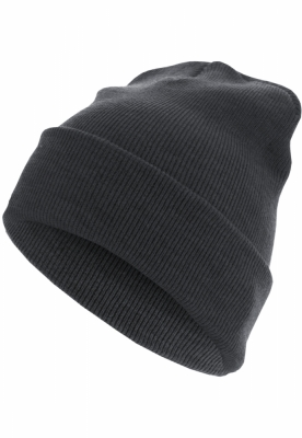Caciula Beanie Basic Flap Long Version gri carbune MasterDis
