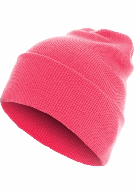 Caciula Beanie Basic Flap Long Version roz neon MasterDis
