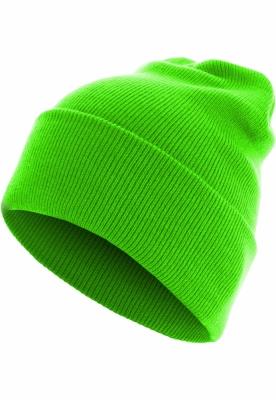 Caciula Beanie Basic Flap Long Version verde neon MasterDis