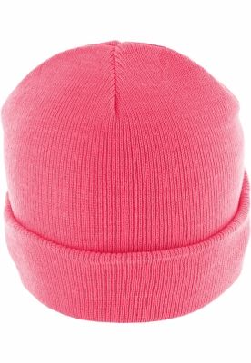 Caciula Beanie Basic Flap roz neon MasterDis
