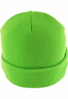 Caciula Beanie Basic Flap verde neon MasterDis