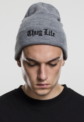 Caciula Beanie Thug Life Old English gri
