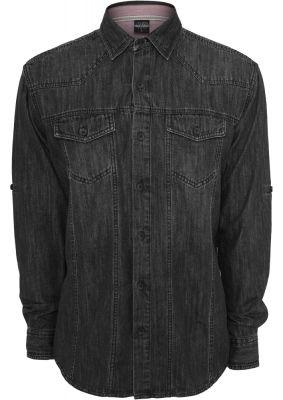 Camasi de blugi negru crud Urban Classics