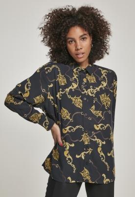 Camasa oversize vascoza pentru Femei luxury-negru Urban Classics