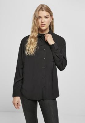 Camasa oversize vascoza pentru Femei negru Urban Classics