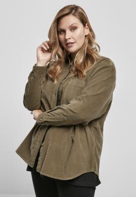 Camasa reiat oversized pentru Femei oliv Urban Classics