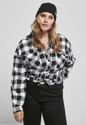 Camasi sport Short supradimensionat pentru Femei negru-alb Urban Classics