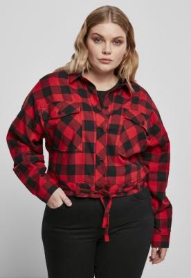 Camasi sport Short supradimensionat pentru Femei negru-rosu Urban Classics