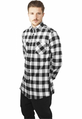 Camasa urban Side-Zip Long Checked Flanell Urban Classics