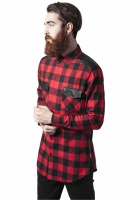 Camasi urban insertii piele blk-red Urban Classics