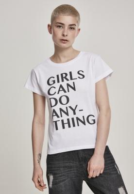 Tricou Can Do Anything pentru fete pentru Femei alb Mister Tee