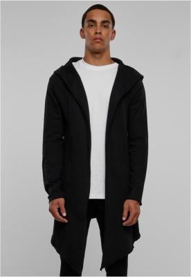 Cardigan lung cu gluga negru