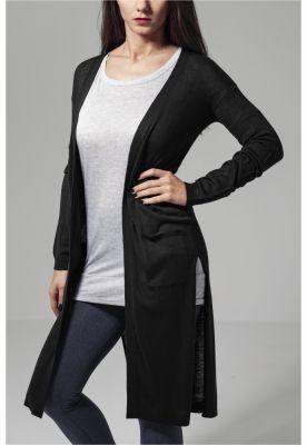 Cardigan lung Fine tricot pentru Femei negru Urban Classics