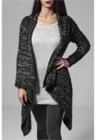 Cardigan tricot Feather pentru Femei negru-alb Urban Classics