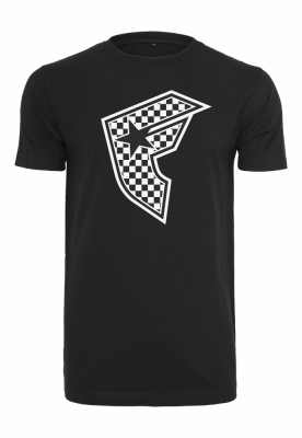 Checker Badge Tee negru Famous