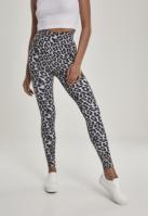Colanti AOP cu talie inalta pentru Femei gri-leopard Urban Classics