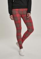 Colanti AOP Tartan pentru Femei rosu-negru Urban Classics