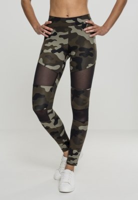 Colanti Camo cu plasa pentru Femei camuflaj-negru