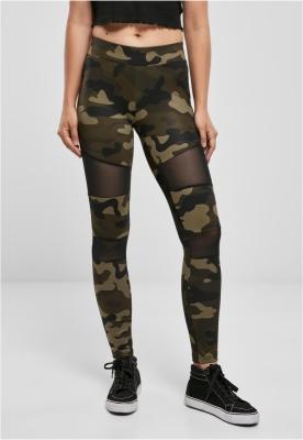 Colanti Camo cu plasa pentru Femei camuflaj-negru Urban Classics