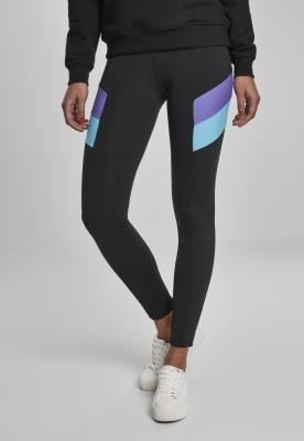 Colanti Color Block pentru Femei negru-violet Urban Classics