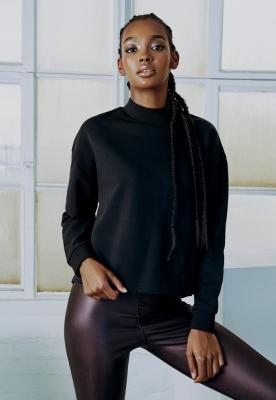 Colanti piele ecologica cu talie inalta pentru Femei redwine Urban Classics