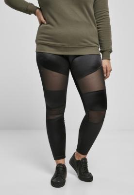 Colanti Shiny cu plasa pentru Femei negru Urban Classics
