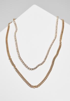 Colier cu 2 straturi Diamond auriu Urban Classics