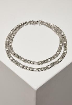 Colier dublu Figaro argintiu Urban Classics
