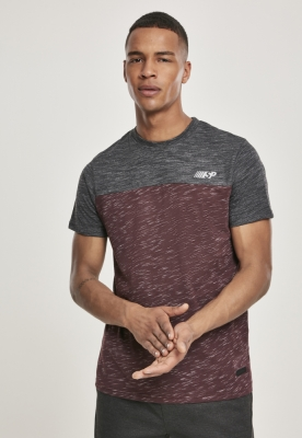 Color Block Tech Tee marled-rosu burgundy Southpole