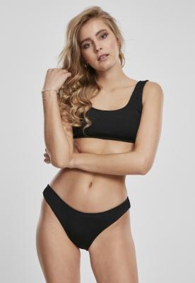 Costum de baie bikini Maiou Crinkle pentru Femei negru Urban Classics