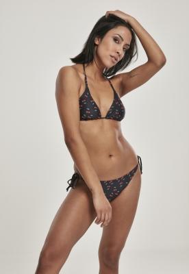 Costum de baie bikini Pattern pentru Femei cherry-negru Urban Classics