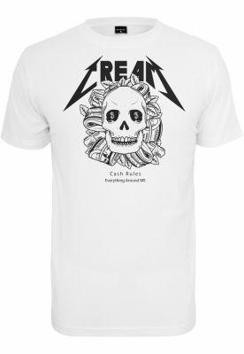 Tricou Cream Skull alb Mister Tee