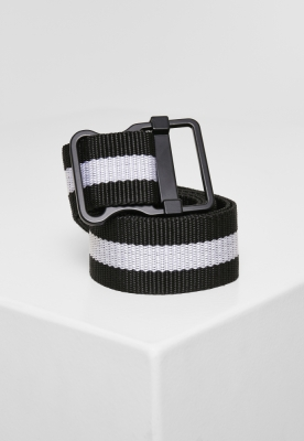 Curea Easy cu Stripes negru-alb Urban Classics