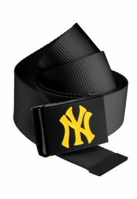 Curea material textil MLB Premium negru Single galben neon MasterDis