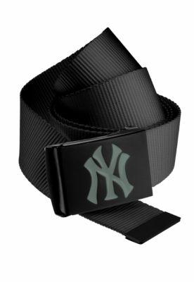 Curea material textil MLB Premium negru Single gri MasterDis