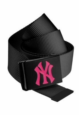 Curea material textil MLB Premium negru Single magenta MasterDis