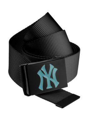 Curea material textil MLB Premium negru Single turcoaz MasterDis