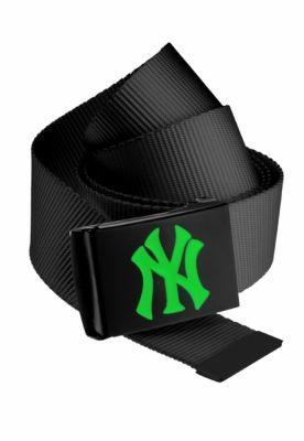 Curea material textil MLB Premium negru Single verde neon MasterDis