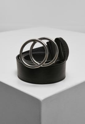Curea Ring Buckle negru-argintiu Urban Classics