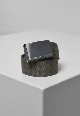 Curea textil Coloured Buckle gri Urban Classics