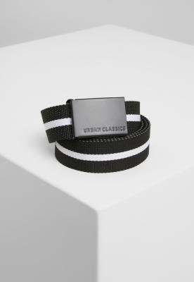 Curele panza barbati negru-alb Urban Classics stripe