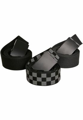 Curele Trio gri-negru Urban Classics carbune