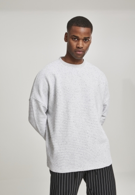 Cut On Sleeve Naps Interlock Crew gri deschis Urban Classics